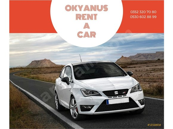 OKYANUS RENT A CAR KİRALIK SEAT IBIZA LPG+BENZIN 05306028899