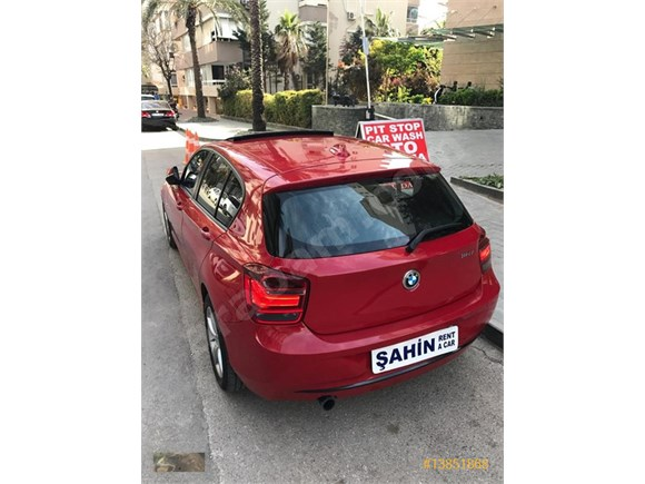 ANTALYA KİRALIK BMW 116 İ KIRMIZI OTOMATİK