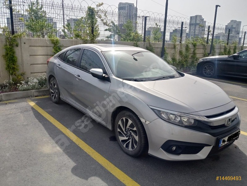 Sahibinden Honda Civic 1.6 I-dtec Elegance 2018 Model İstanbul 50.800 Km Gri