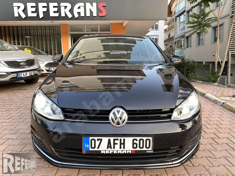 Galeriden Volkswagen Golf 1.6 Tdi Bluemotion Comfortline 2014 Model Antalya 105.000 Km Siyah