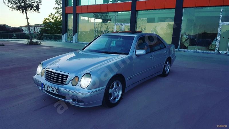 Galeriden Mercedes - Benz E 200 Kompressor Avantgarde 2001 Model Ankara 330 Km Gri (gümüş)