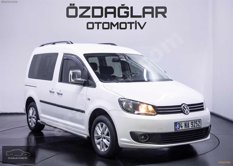 Galeriden Volkswagen Caddy 1.6 Tdi Comfortline 2013 Model İstanbul 128.000 Km Beyaz