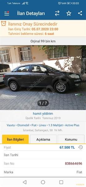 Sahibinden Fiat Linea 1.3 Multijet Active Plus 2011 Model İstanbul 100.090 Km -