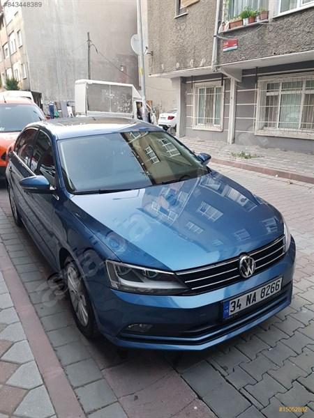 Sahibinden Volkswagen Jetta 1.4 Tsi Bluemotion Comfortline 2016 Model İstanbul 32.642 Km Mavi