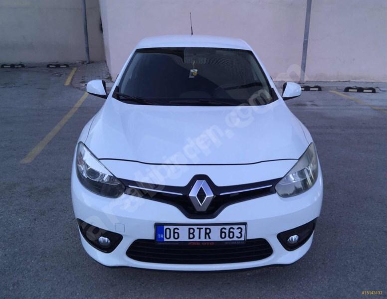 Sahibinden Renault Fluence 1.5 Dci Touch Plus 2014 Model Ankara 169.000 Km Beyaz