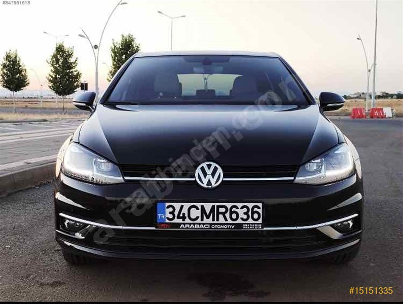 Sahibinden Volkswagen Golf 1.6 Tdi Bluemotion Highline 2019 Model Diyarbakır 7.500 Km Siyah