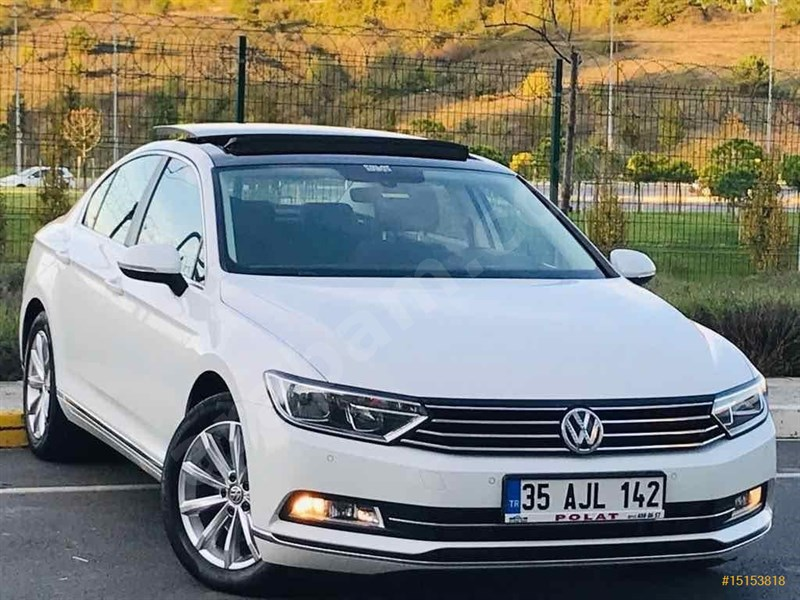 Galeriden Volkswagen Passat 1.6 Tdi Bluemotion Comfortline 2018 Model İstanbul 55.000 Km Beyaz