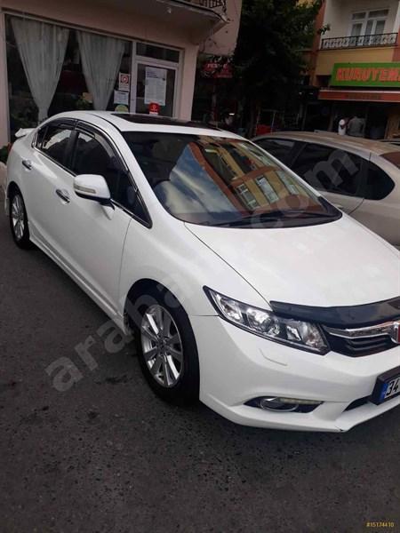 Sahibinden Honda Civic 1.6 I-vtec Eco Elegance 2014 Model İstanbul 155.000 Km Beyaz