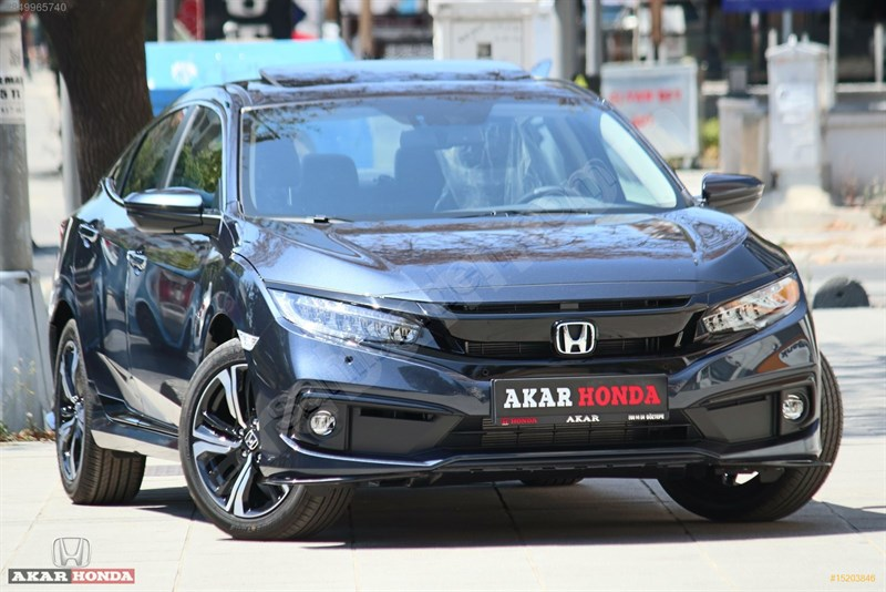 Galeriden Honda Civic 1.6 I-vtec Executive 2020 Model İstanbul 0 Km Mavi