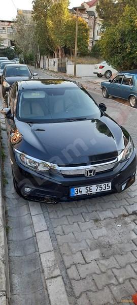 Sahibinden Honda Civic 1.6 I-vtec Eco Elegance 2017 Model İstanbul 82.000 Km Siyah
