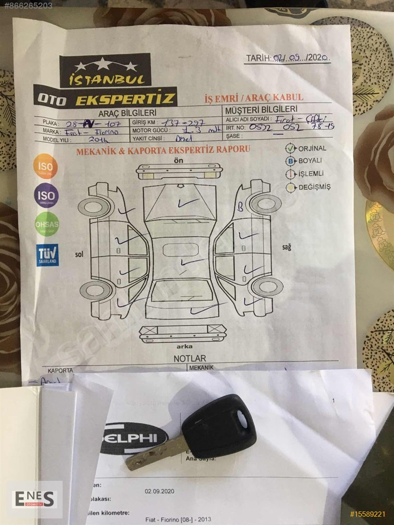 Galeriden Fiat Fiorino Combi 1 3 Multijet Emotion 2014 Model Istanbul 138 123 Km Gri 15589221 Arabam Com