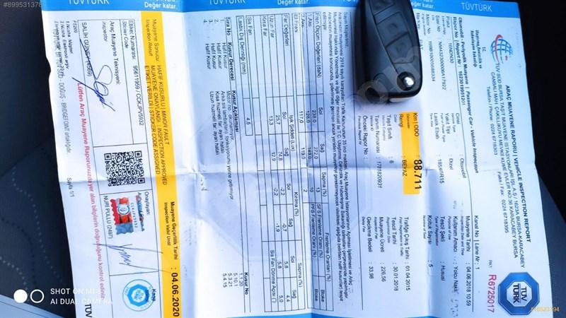 Galeriden Fiat Linea 1.3 Multijet Easy 2015 Model Bursa 135.000 Km Beyaz