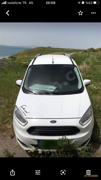 Sahibinden Ford Tourneo Courier 1.6 Tdci Titanium Plus 2014 Model Van 62.750 Km -