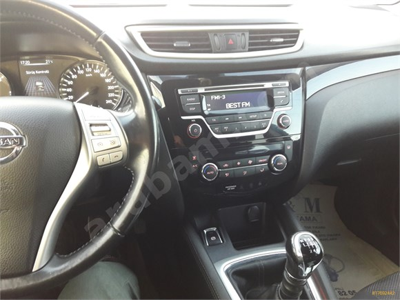 Sahibinden Nissan Qashqai 1.5 dCi Tekna Sky Pack 2014 Model Kayseri